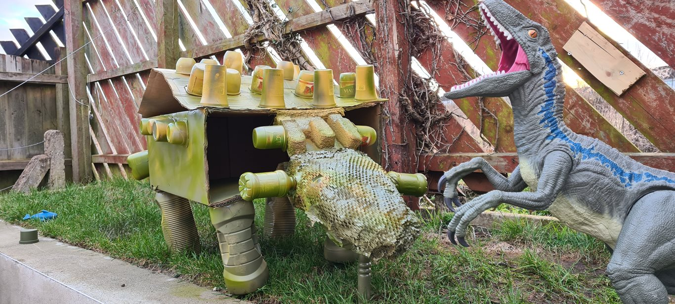 Picture of dinosaur entry for Bin smART competition