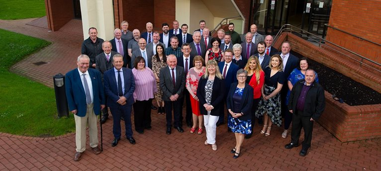 A picture of Mid Ulster District Councillors