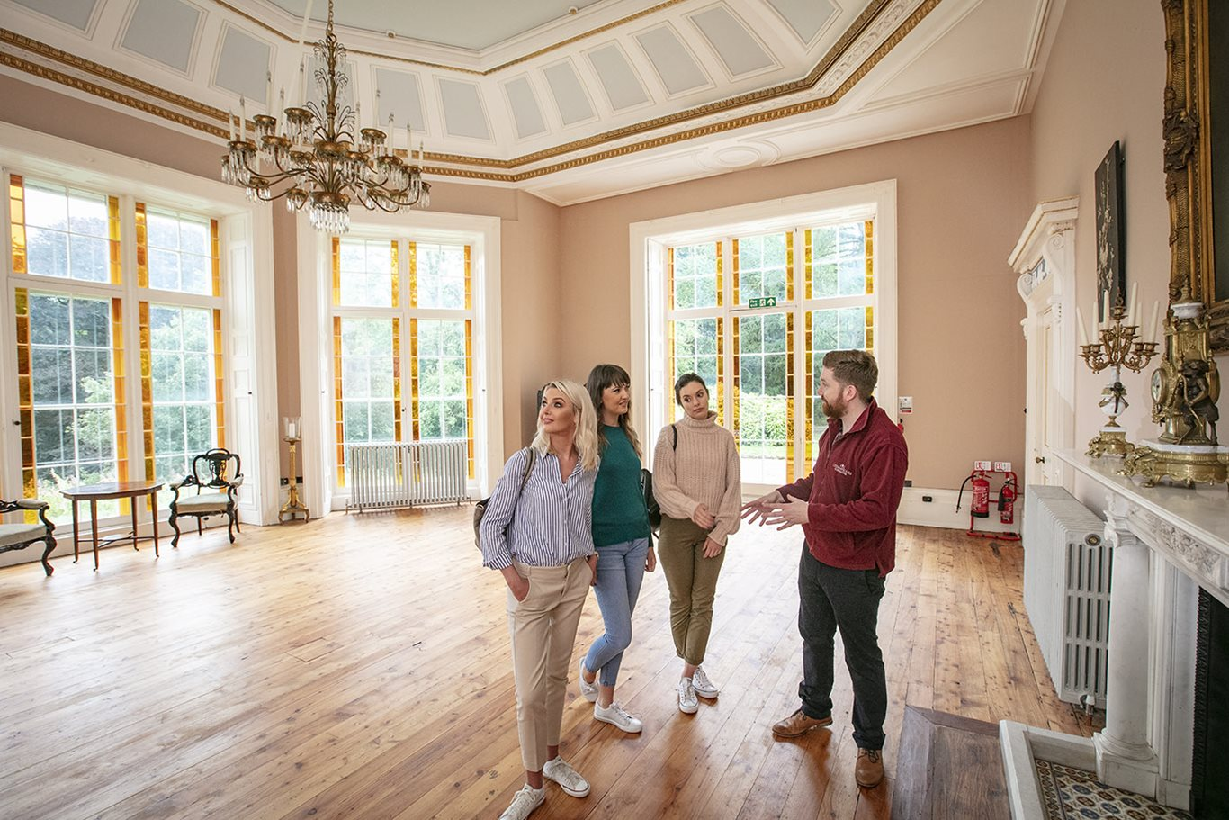 Inside the ballroom at Lissan House in Cookstown