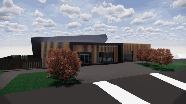 An artists 3D impression of the new centre at Pomeroy Forest.